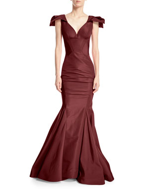144fe9e5b4 Zac Posen Sweetheart Sleeveless Mermaid Silk-Faille Evening Gown