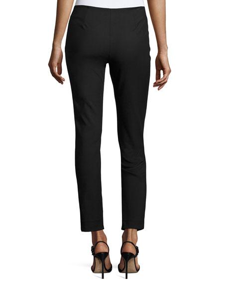 Catherine Slim-Leg Ankle Pants, Black