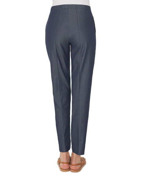 Akris Colin Straight-Leg Cotton Pants