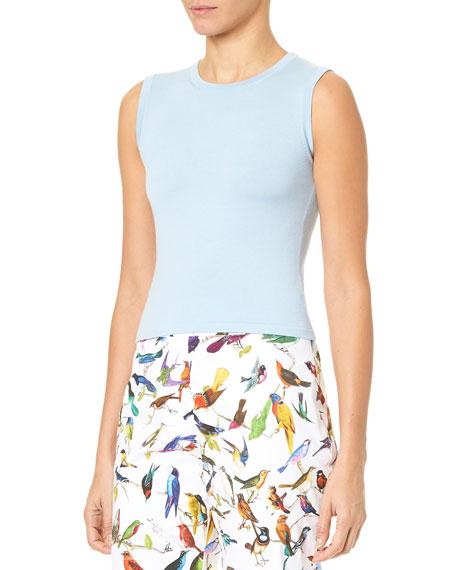 Carolina Herrera Crewneck Sleeveless Knit Shell