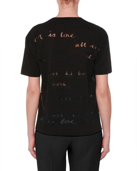 All is Love Burnout Short-Sleeve T-Shirt