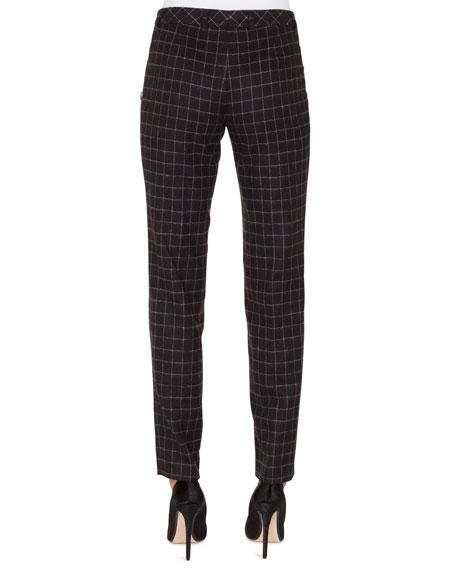 Melvin Slim Straight-Leg Wool Flannel Stretch Pants