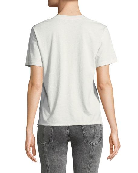 Crewneck Short-Sleeve Logo Cotton Tee