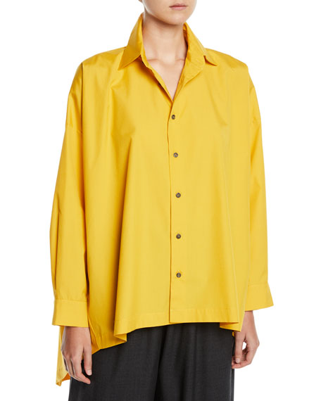 Eskandar High-Low Button-Front Shirt
