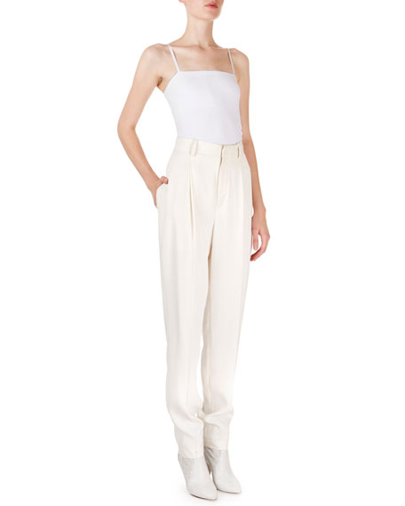 Isabel Marant Poyd High-Waist Stovepipe Trousers