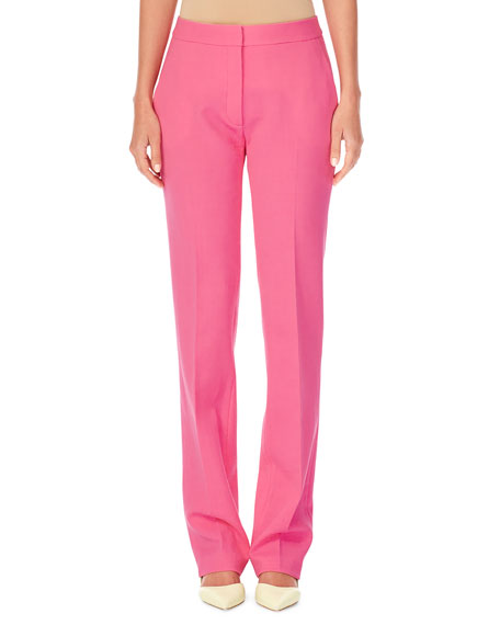 Carolina Herrera Straight-Leg Stretch-Wool Pants