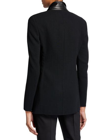 Akris Odette Long Wool Blazer Jacket
