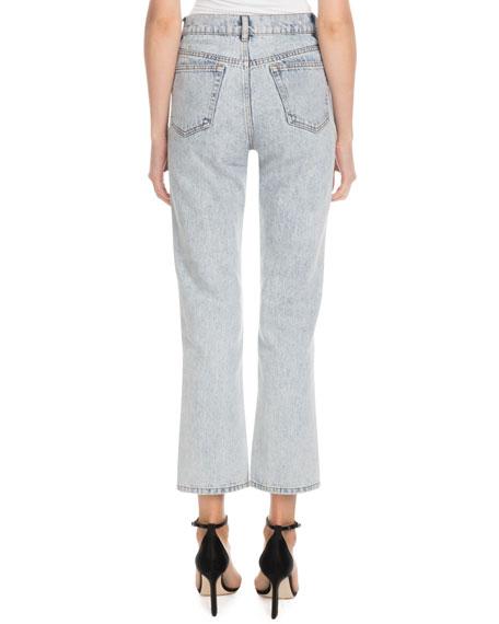 Victoria Victoria Beckham High-Waist Five-Pocket Straight-Leg Light-Wash Jeans