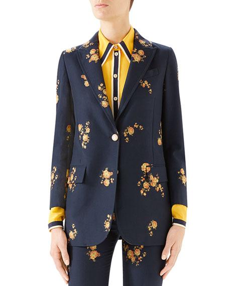 Gucci Bouquet Fil Coupe Jacket