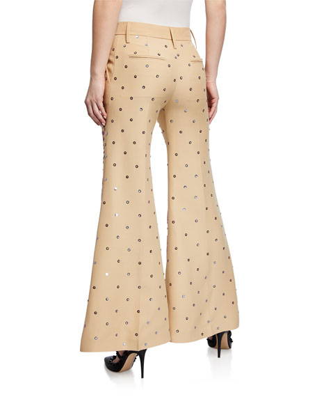 Valentino Sequined Crepe Couture Pants