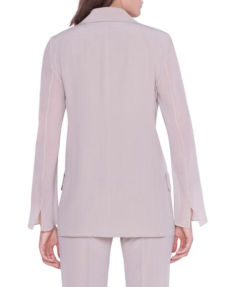 Akris Alea Chiffon-Sleeve Open Jacket