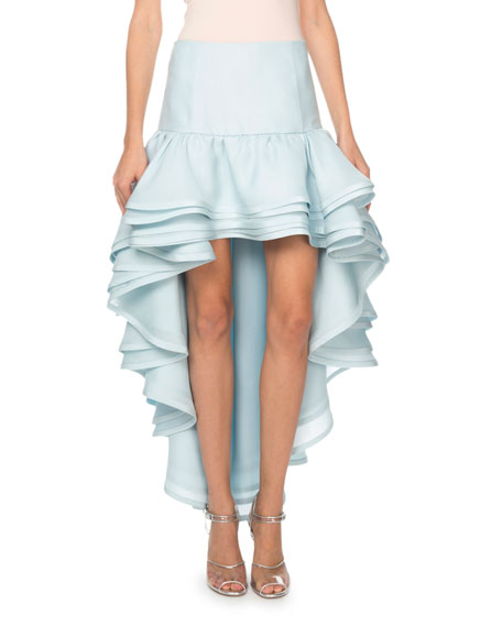 Marc Jacobs Cascading Silk High-Low Skirt