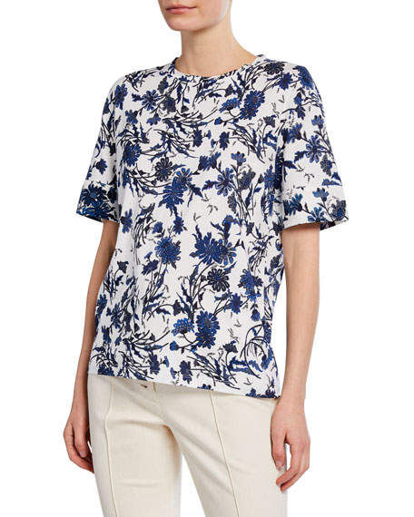 Derek Lam Nightshade Short-Sleeve T-Shirt