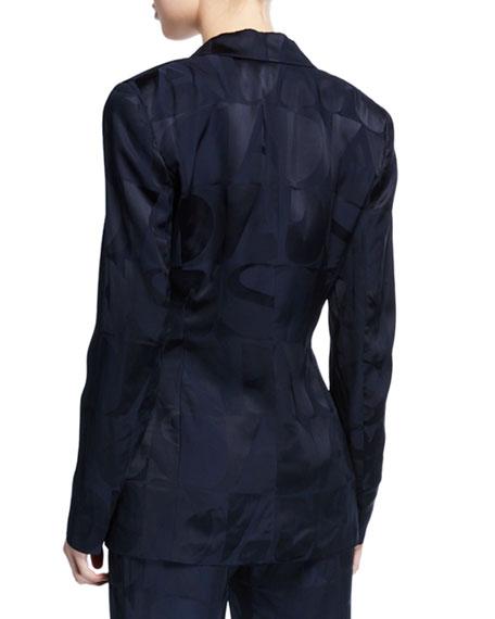 Escada Satin Logo Blazer Jacket