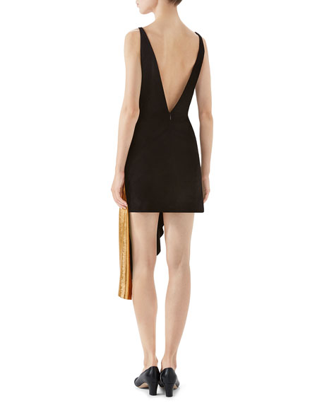 Gucci Suede and Metallic Leather Mini Dress