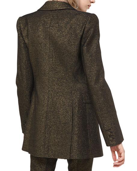 Michael Kors Collection Metallic Wool Blazer