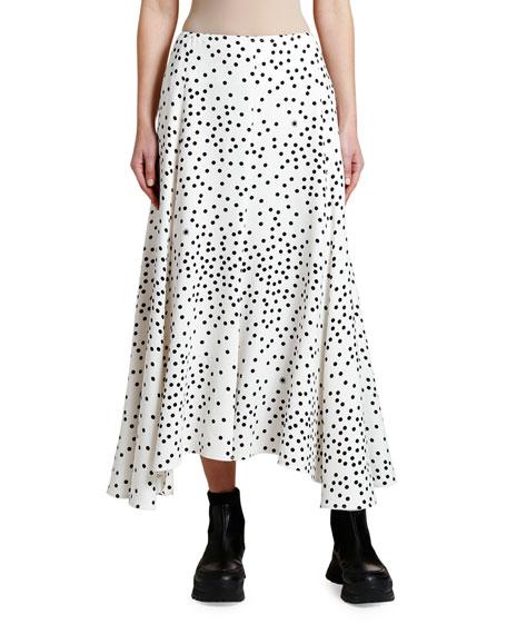 Stella McCartney Polka Dot Cady Midi Skirt