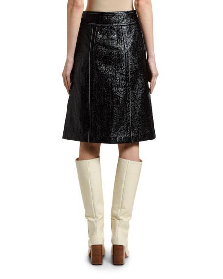 Marni Cotton Coated Tweed A-Line Skirt