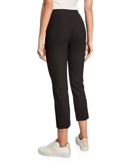Agnona Stretch-Wool Press-Creased Capri Pants