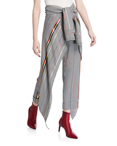 Avedon Wrapped Houndstooth Pants