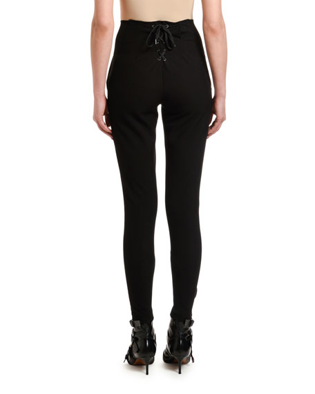 Etro Equestrian Laced-Back Leggings
