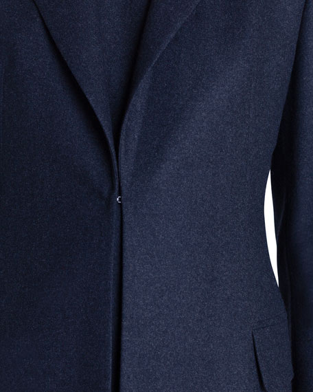 Akris Stretch Wool Hook-Front Jacket