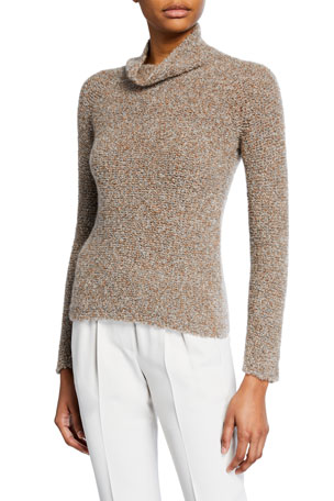 Giorgio Armani Cashmere Silk Waffle-Stitch Sweater