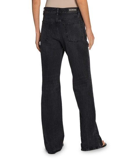 Balenciaga High-Rise Japanese Denim Jeans