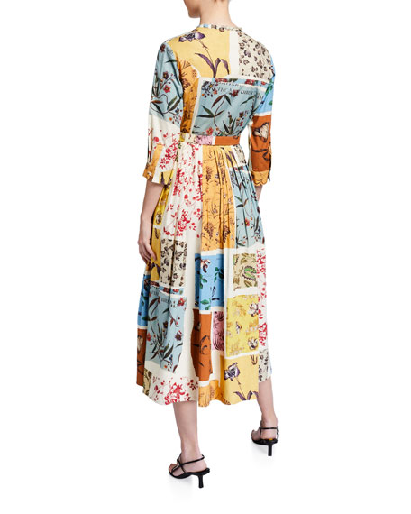 Oscar de la Renta Ruffled One-Shoulder Cotton Day Dress