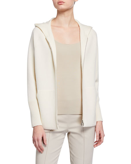 Image 1 of 3: Akris Cashmere Hooded Sweater