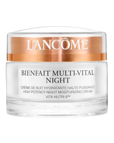 Lancome Bienfait Multi-Vital Night Cream - Highly Potent Overnight Face Moisturizer, 1.7 oz./ 50 mL