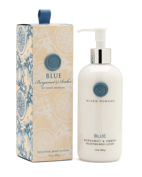Niven Morgan Blue Body Lotion, 12 oz.