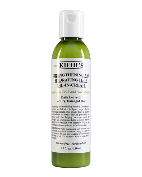 Kiehl's Since 1851 Strengthening and Hydrating Hair Oil-In-Cream, 6.0 oz.