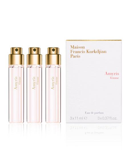 Maison Francis Kurkdjian Amyris femme Eau de Parfum Travel Spray Refills, 3 x 0.37 oz./ 11 mL