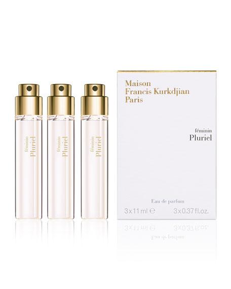féminin Pluriel Travel Refills Eau de Parfum, 3 x 0.37 oz./ 11 mL