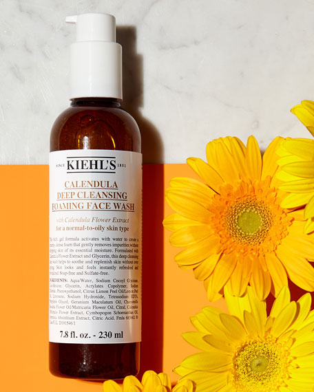 Image 4 of 5: Kiehl's Since 1851 16.9 oz. Calendula Deep Cleansing Foaming Face Wash