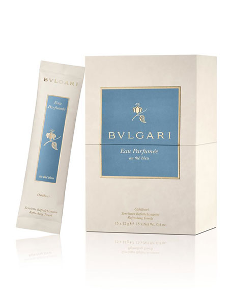 BVLGARI Eau Parfumée Au Thé Bleu Refreshing Towels