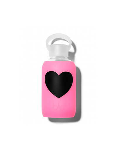 Glass Water Bottle, Bambi Heart, 250 mL