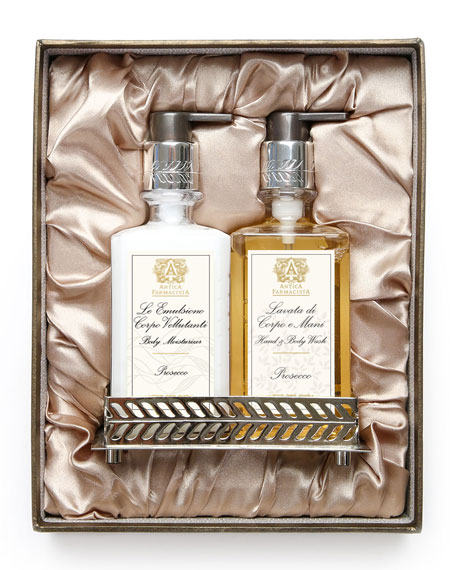 Antica Farmacista Prosecco Hand Wash & Moisturizer Gift Set with Tray