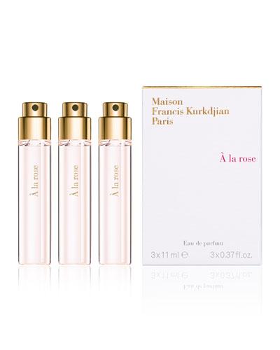 À la rose Eau de Parfum Travel Spray Refills, 3 x 0.37 oz./ 11 mL