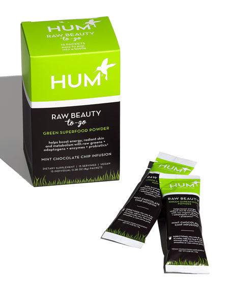 Hum Nutrition Raw Beauty To Go™ Superfood Powder – Mint Chocolate Chip