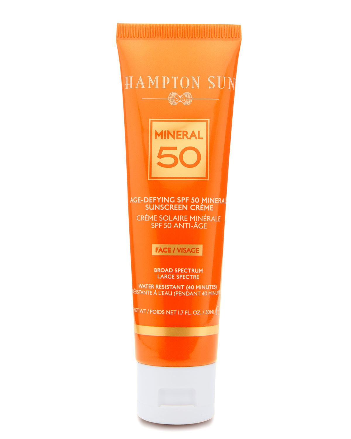Hampton Sun Age-Defying Mineral Crème Sunscreen for FACE SPF 50