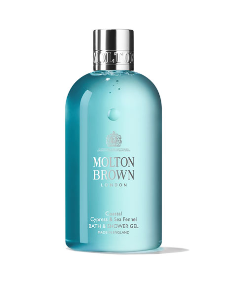 Molton Brown Coastal Cypress & Sea Fennel Bath & Shower Gel, 10 oz./ 30 mL
