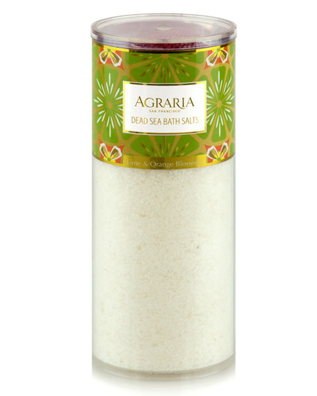 Agraria Lime & Orange Blossoms Bath Salt Tower, 16 oz./ 454 g