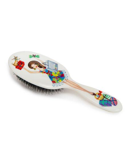 Holiday Brunette Miss Daisy Hair Brush