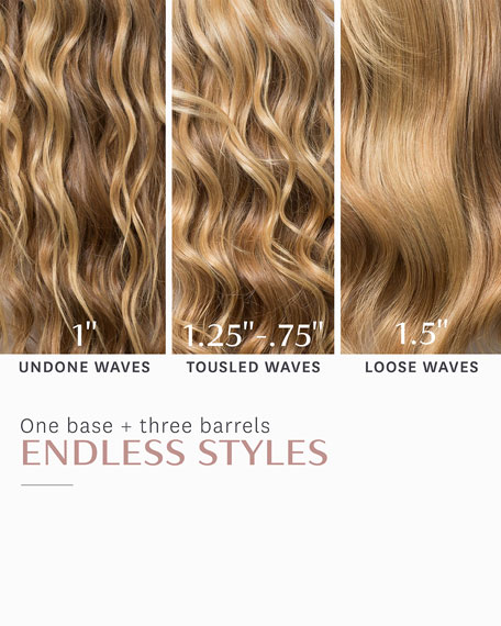 "Whirl Trio Interchangeable Styling Wand Set: Tapered, 1"", 1.5"""