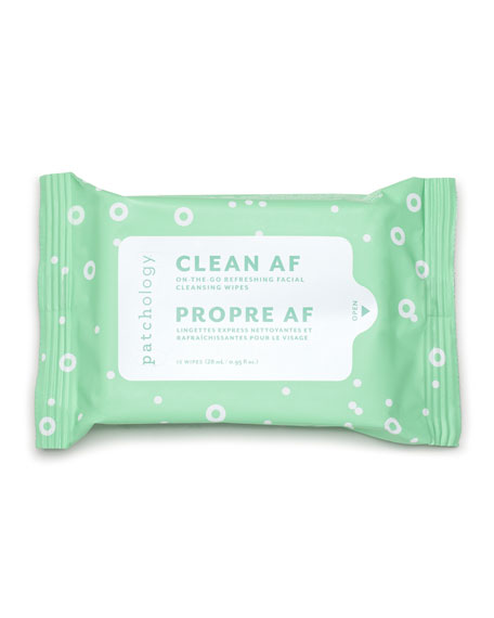 Image 1 of 3: Patchology Clean AF Facial Cleansing Wipes, 15 Count