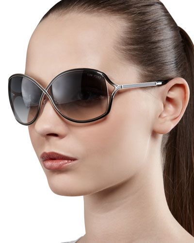 a2becae8d62a TOM FORD Rickie Round Open-Temple Sunglasses Order Now ...