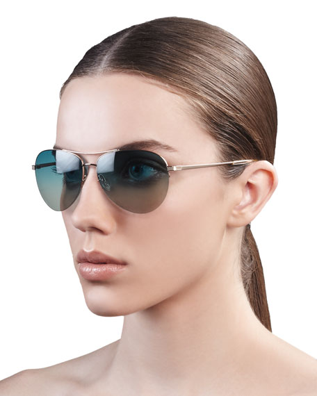 Classic Aviator Sunglasses, Gold