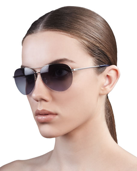 Sparrow Aviator Sunglasses, Silver